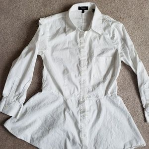 Theory Size Small Button Down Peplum Top